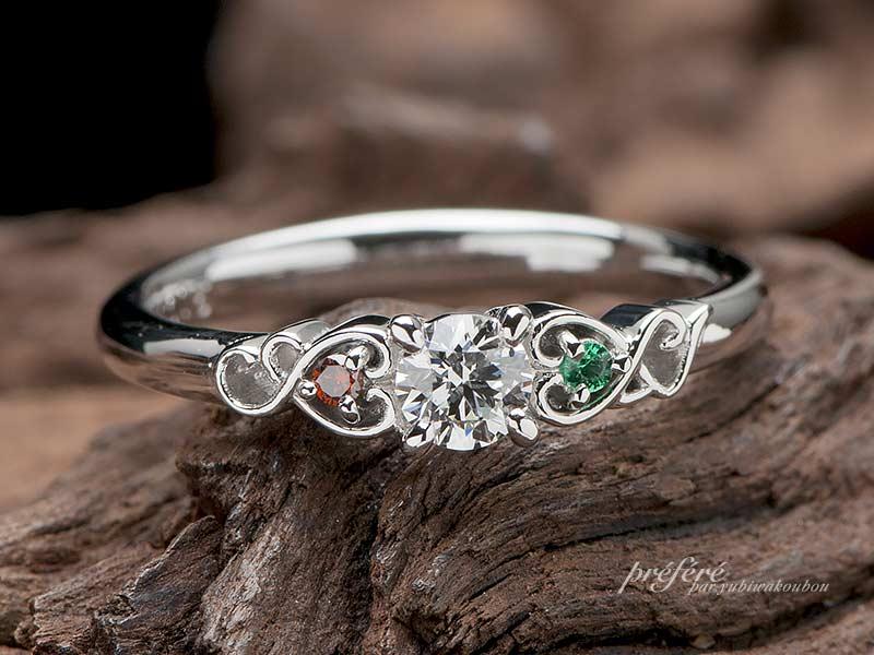 ラウンドダイヤの婚約指輪