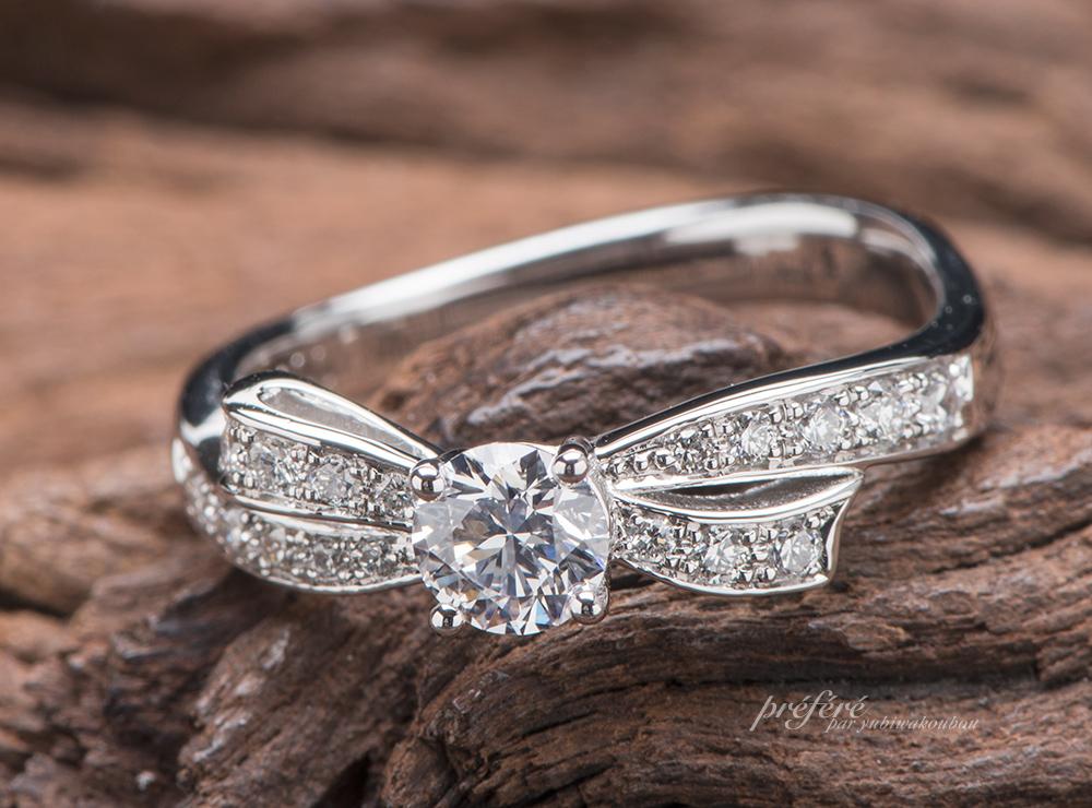リボン 婚約指輪オーダー