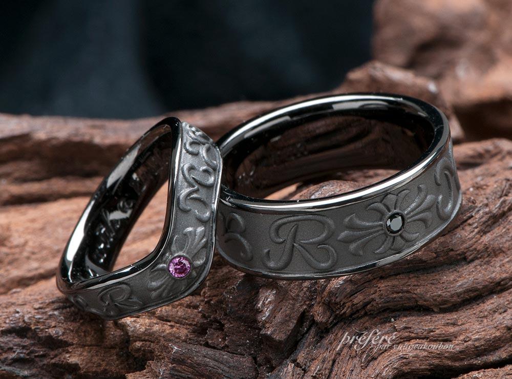 結婚指輪をブラックリングで