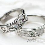 カラーダイヤをいれた結婚指輪はオーダーメイド