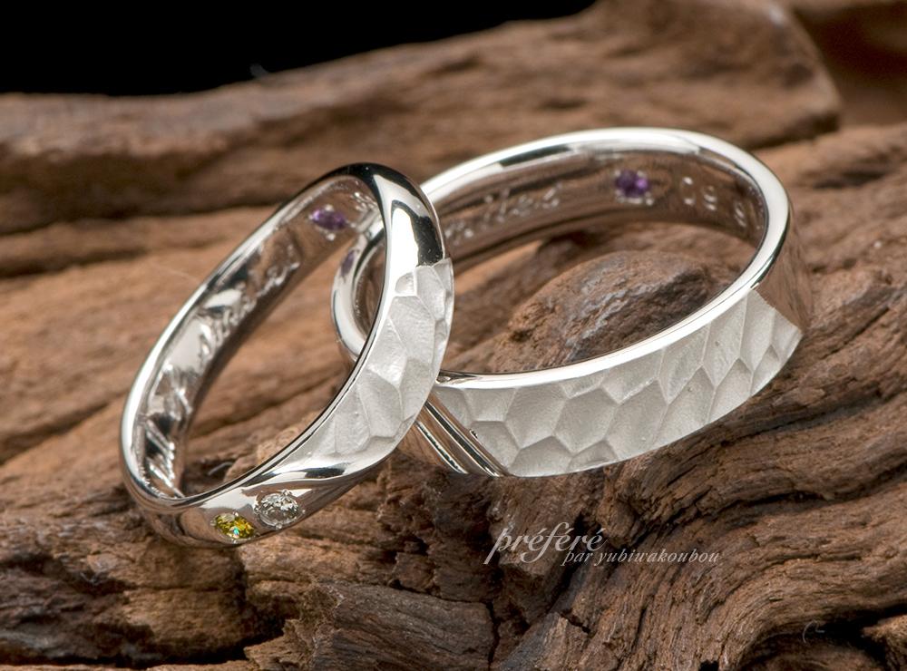 誕生石 結婚指輪オーダーメイド