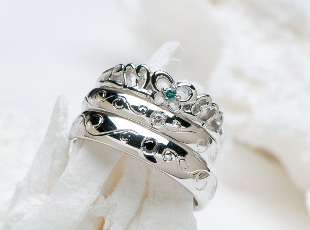 婚約指輪&結婚指輪(セットリング)-2の写真