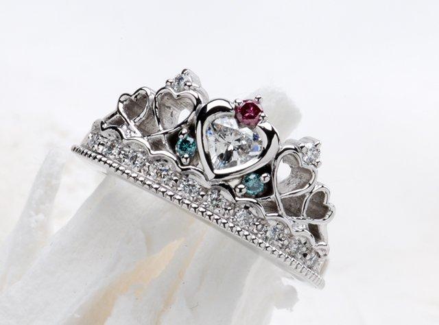 婚約指輪(ティアラ型リング)-1の写真