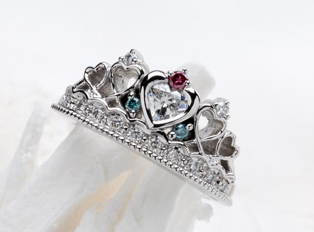 ティアラ 婚約指輪オーダー, ハート 婚約指輪オーダー