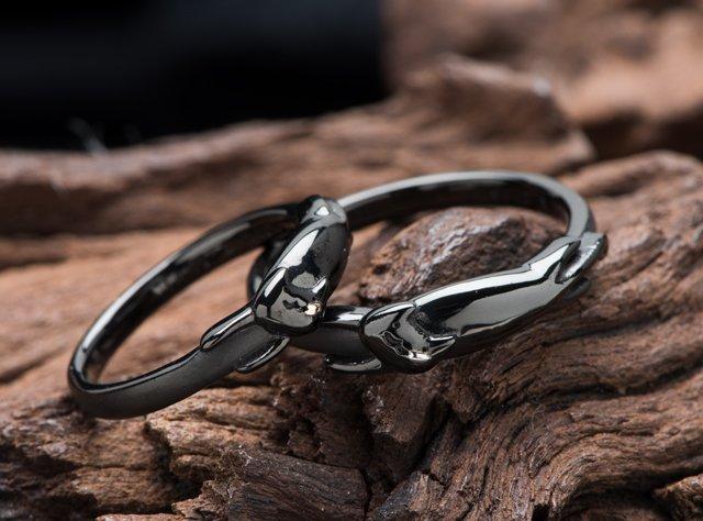 結婚指輪(ブラック仕上げ)-3の写真
