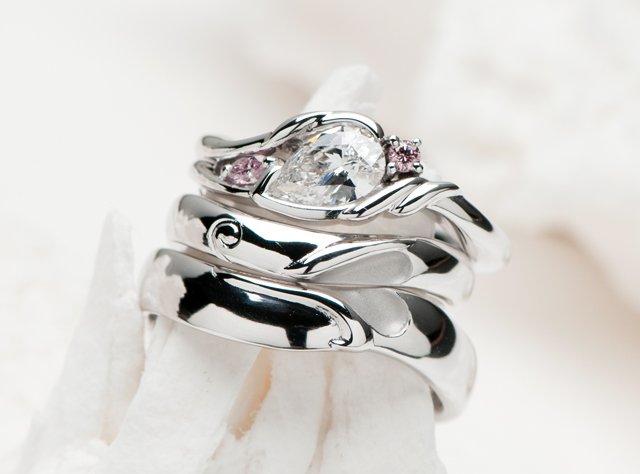婚約指輪&結婚指輪(セットリング)-3の写真
