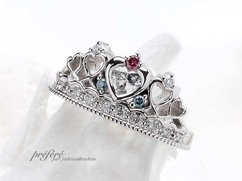 婚約指輪(ティアラリング)-1の写真