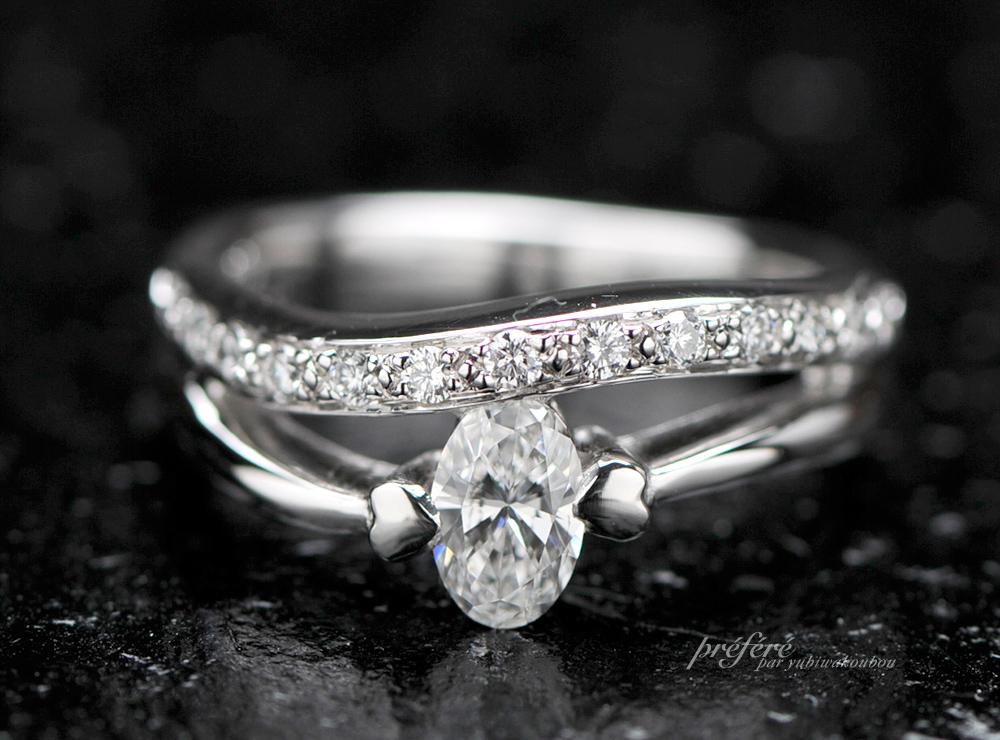 オーバルダイヤの婚約指輪オーダー