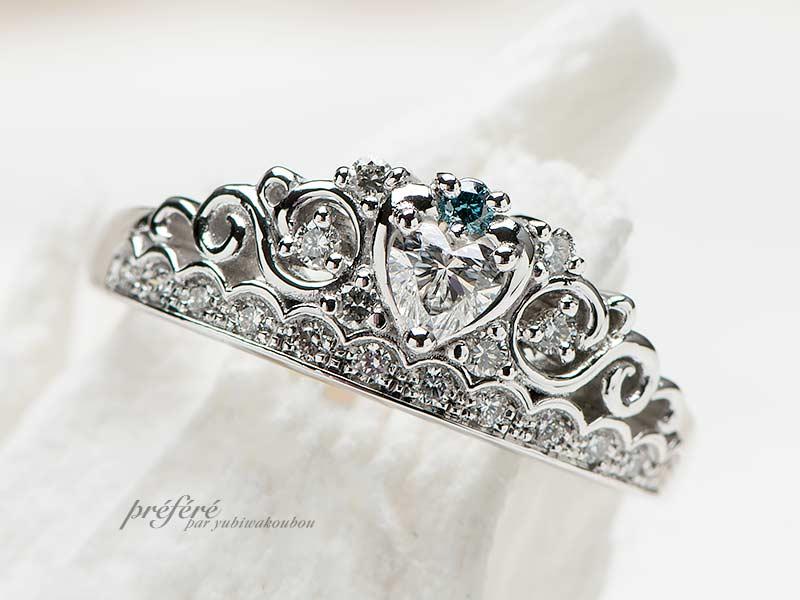 婚約指輪(ティアラリング)-4の写真