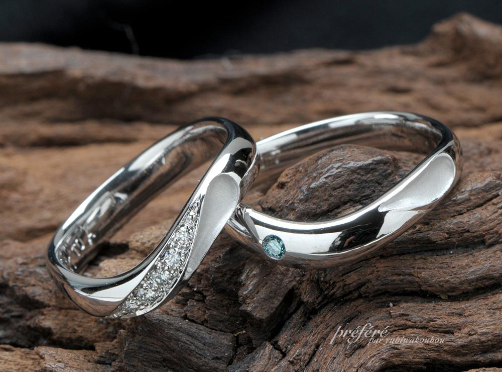 ハートモチーフの結婚指輪オーダー