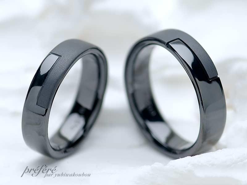 結婚指輪(ブラック仕上げ)-2の写真
