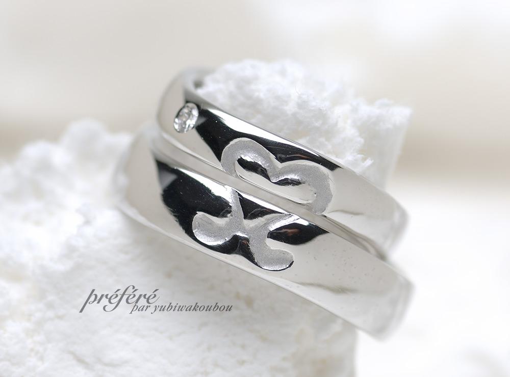 イニシャル 結婚指輪オーダー