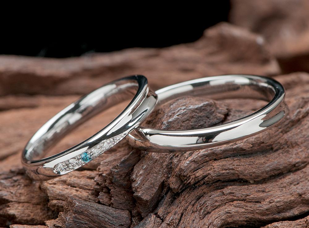 結婚指輪のオーダーはシンプルで可愛く(指輪No.10098)