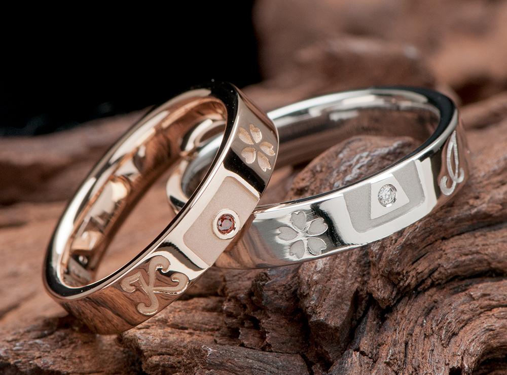 イニシャル 結婚指輪オーダーメイド