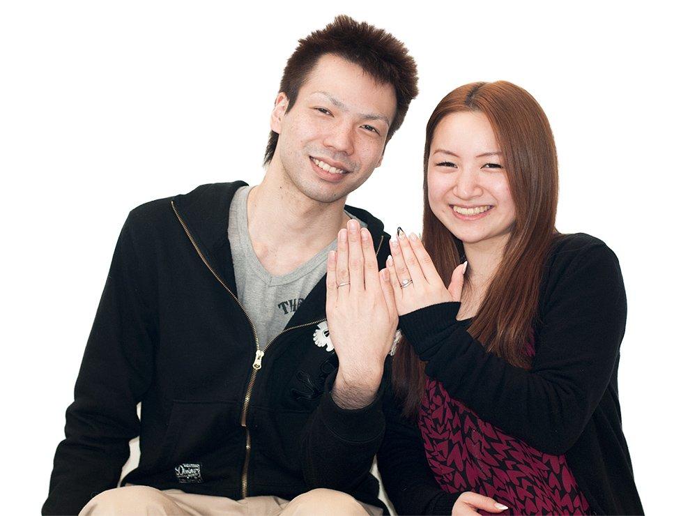 婚約指輪と結婚指輪をオーダーでお作り頂いたお客様