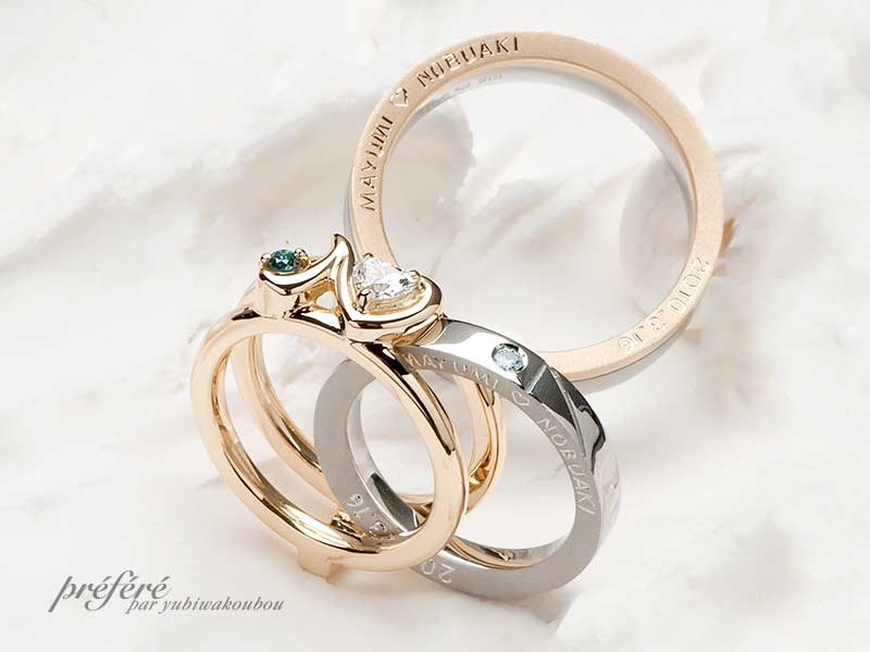 婚約指輪&結婚指輪(セットリング)-1の写真