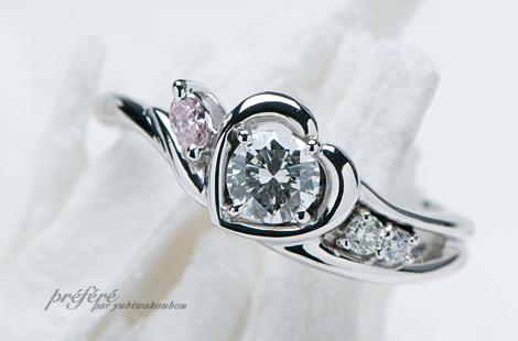 彼のお母様のダイヤリング(婚約指輪)をリメイク