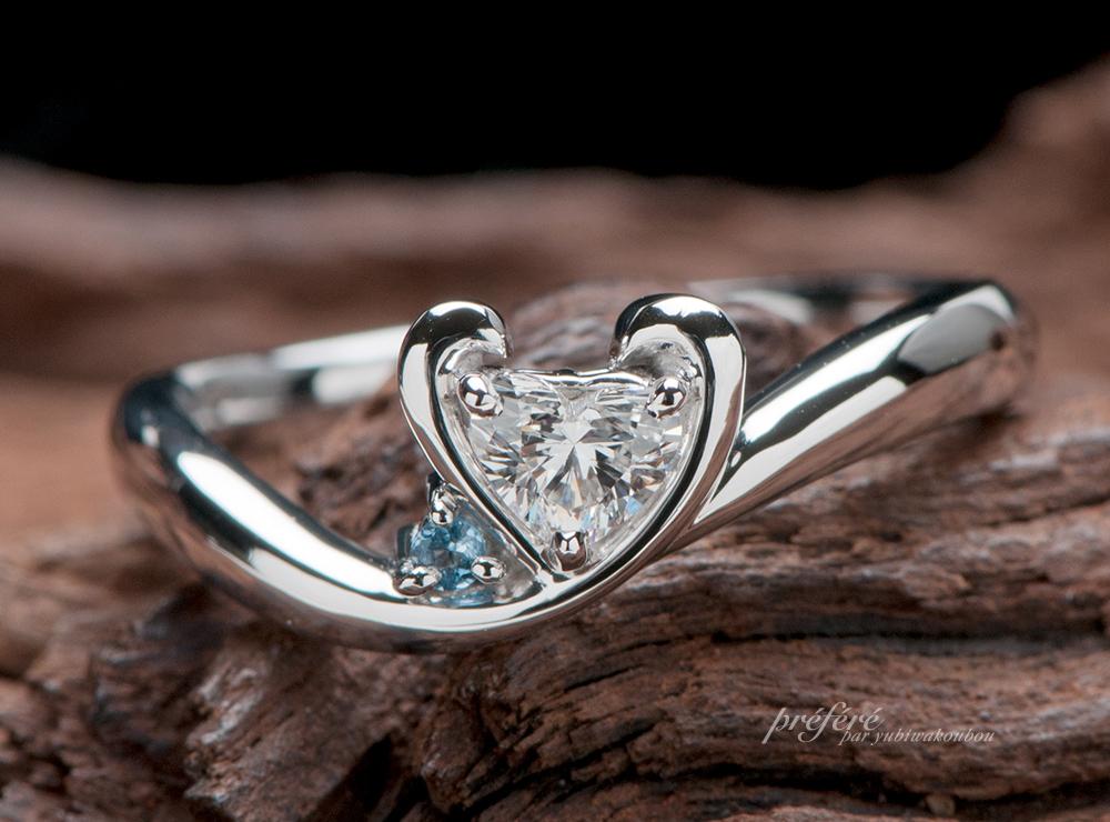 イニシャルの婚約指輪オーダー