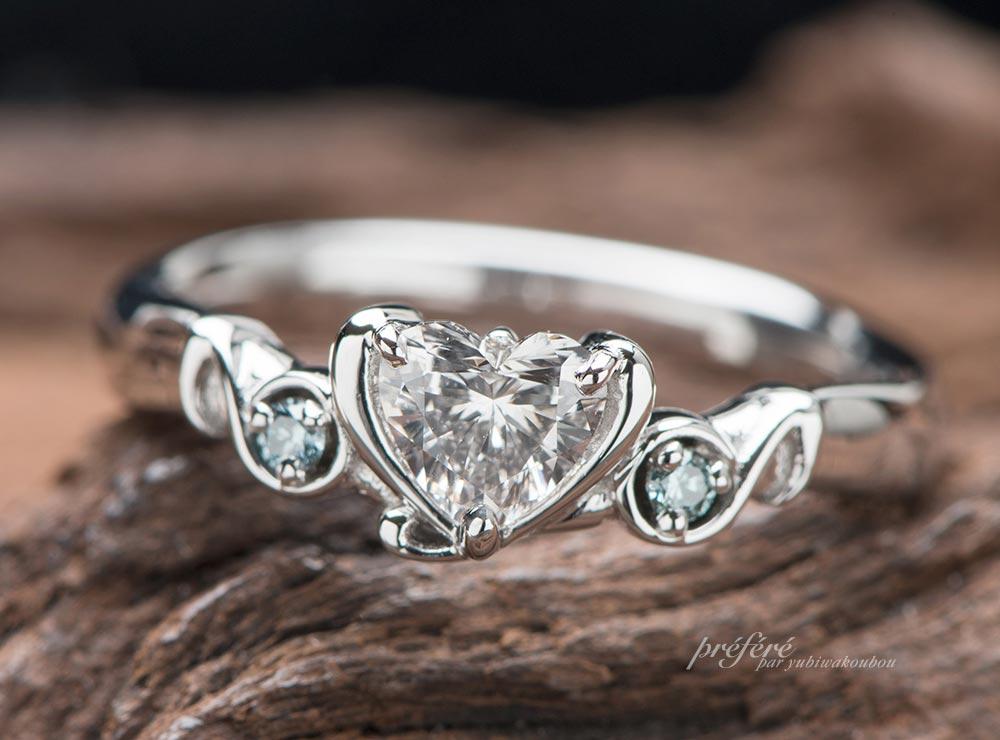 音符モチーフの婚約指輪のオーダー
