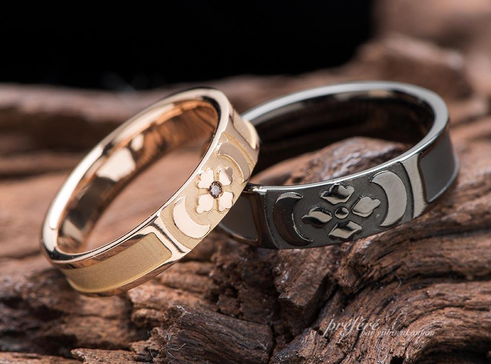 家紋 結婚指輪 オーダーメイド