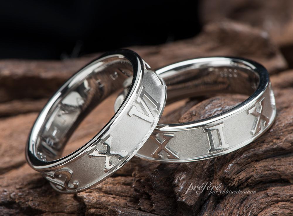 ローマ数字 結婚指輪オーダー