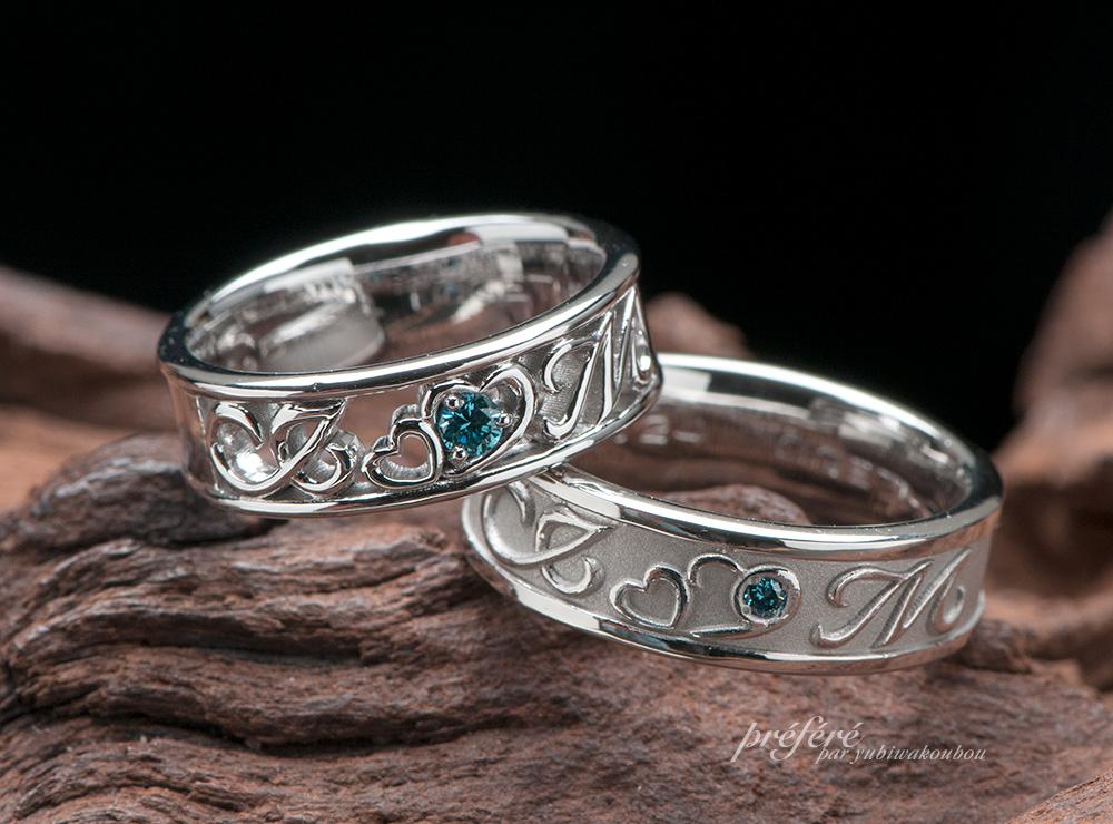 四つ葉のクローバーになる結婚指輪