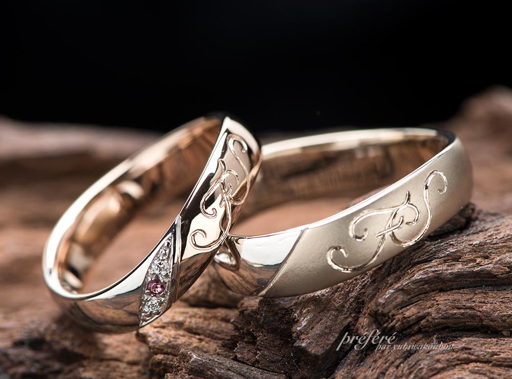 コンビ素材で結婚指輪をオーダー