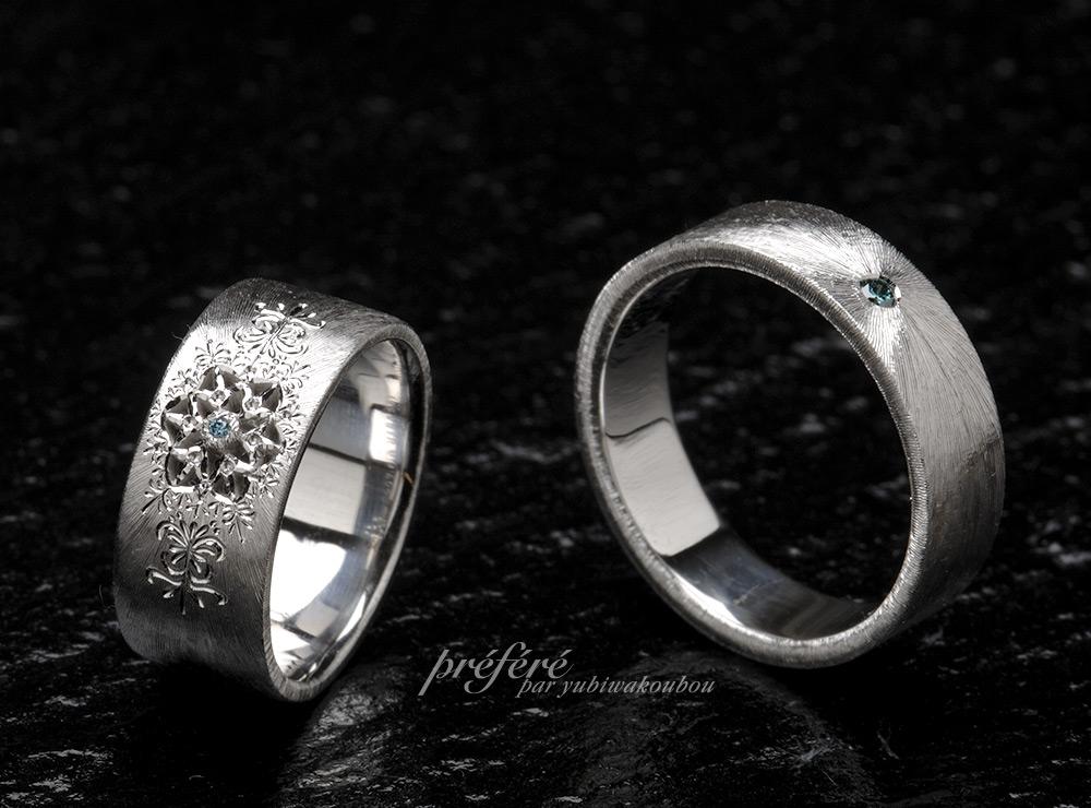 結婚指輪はオーダーで繊細なテクスチャーが魅力的