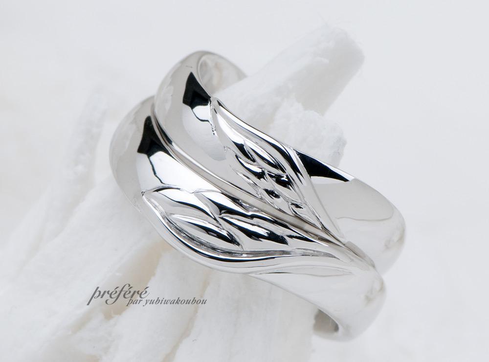 天使の羽根モチーフの結婚指輪はオーダー
