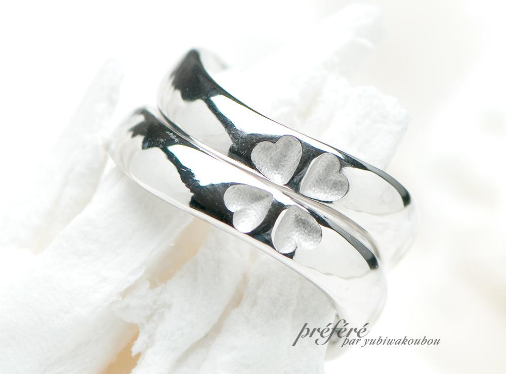 四つ葉のクローバーの結婚指輪をオーダーメイド