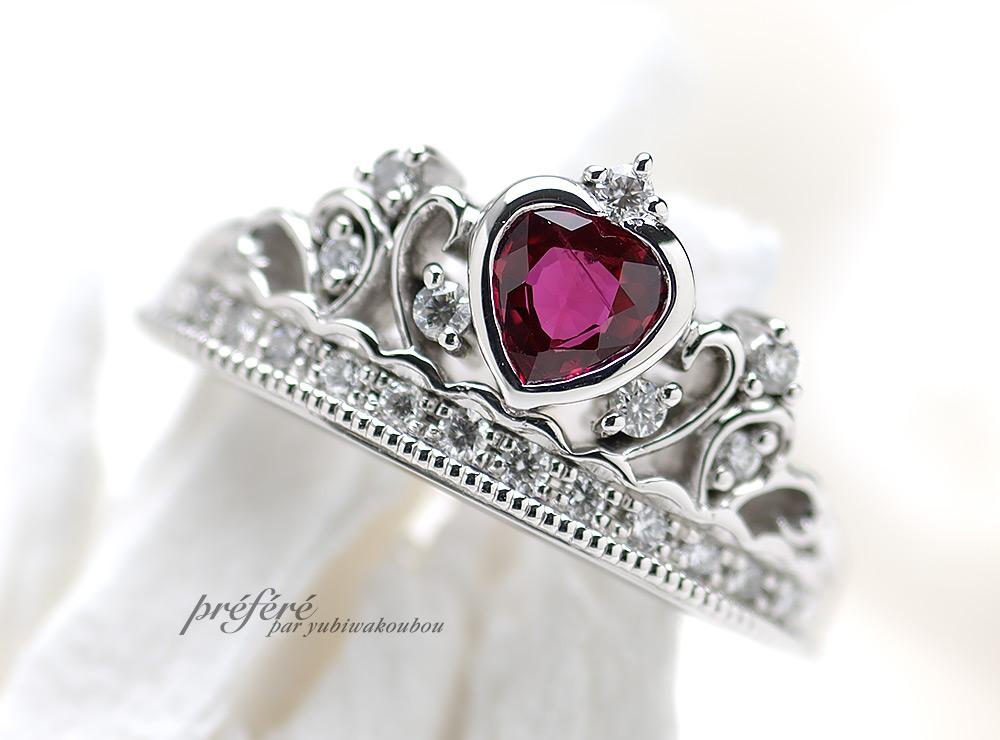 ティアラで婚約指輪オーダー