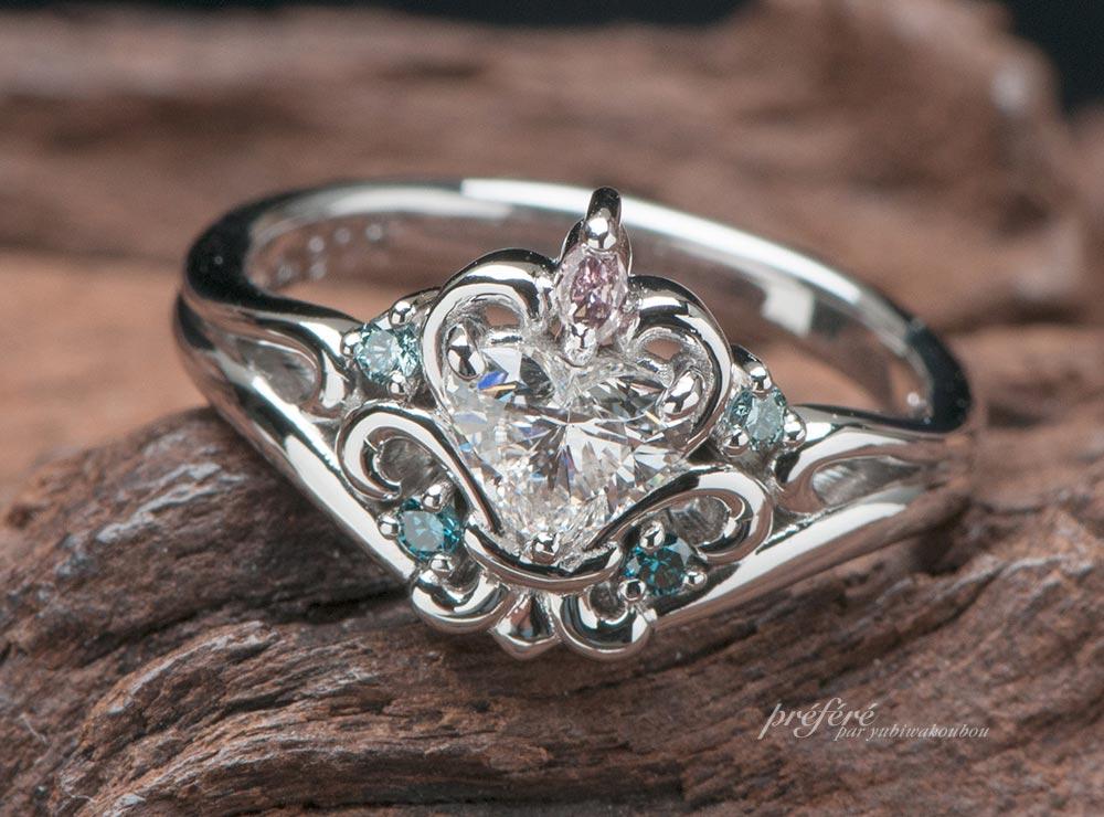 ティアラハート婚約指輪のオーダーメイド