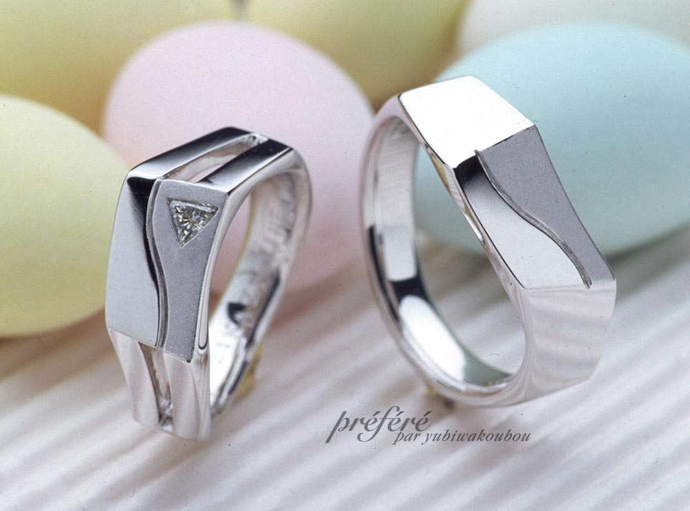 結婚指輪オーダーメイド個性溢れるデザイン
