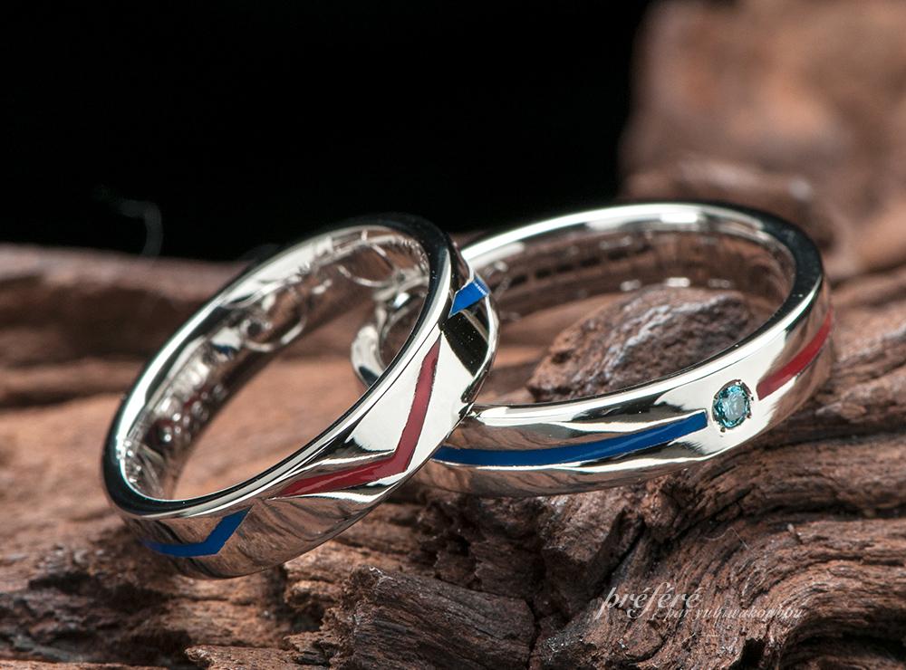 KONAMIのサウンドゲームモチーフの結婚指輪