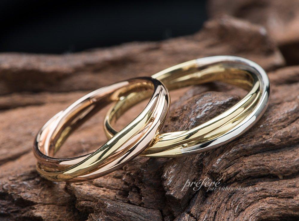 コンビ素材の結婚指輪