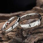 スライムとハートダイヤの結婚指輪