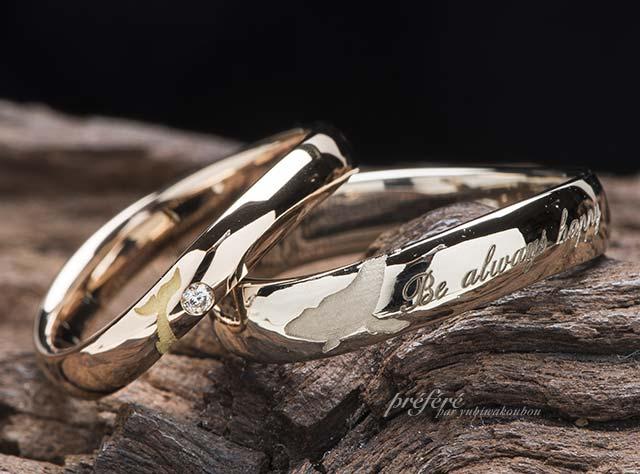 クジラモチーフの結婚指輪