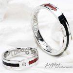 赤と黒の結婚指輪