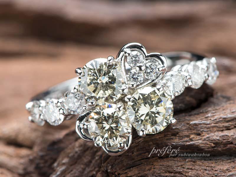 ダイヤリングのリフォームで婚約指輪
