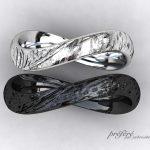 テクスチャーを入れた結婚指輪をオーダーメイドで