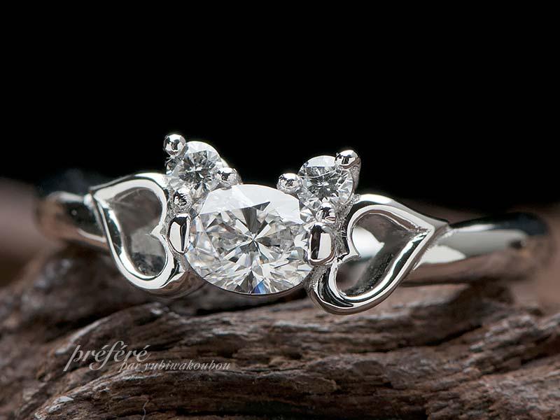 クマモチーフ 婚約指輪オーダーメイド