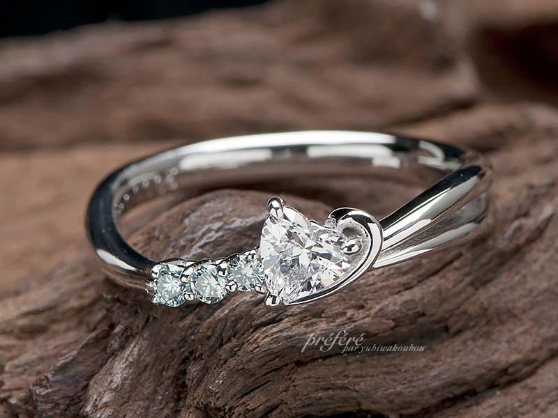 流れ星の婚約指輪はオーダーメイド