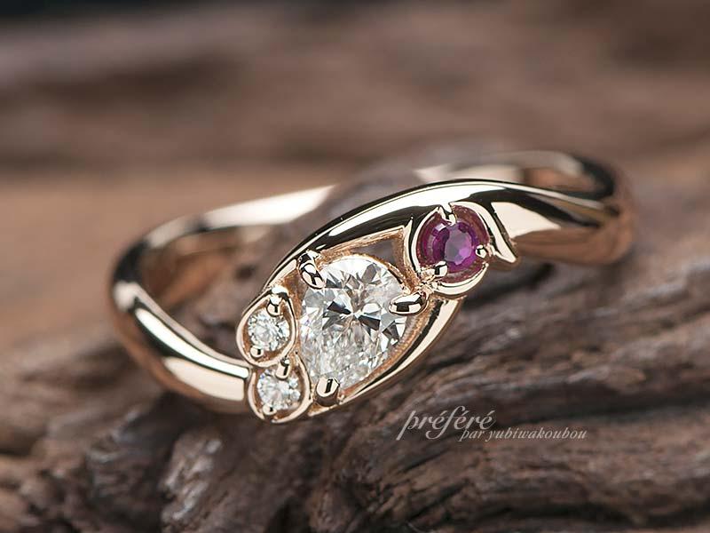 ペンギンモチーフの婚約指輪オーダー