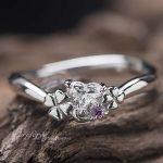 四つ葉ハートダイヤ 婚約指輪オーダー,イニシャル 婚約指輪オーダー