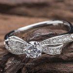リボン婚約指輪