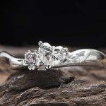 桜モチーフ 婚約指輪