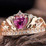 ルビーのティアラタイプの婚約指輪オーダー