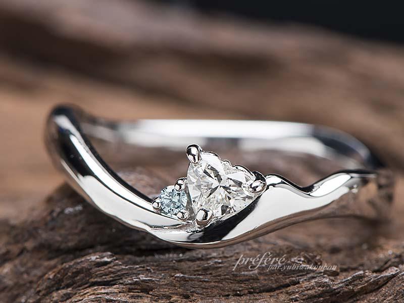 山モチーフの婚約指輪をオーダーメイド