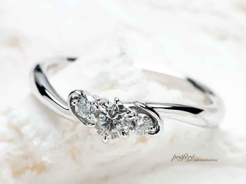 婚約指輪のリメイク お母様から譲り受けたダイヤモンドでオーダーメイドの婚約指輪