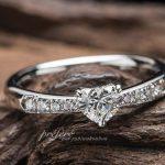 ハートのダイヤ婚約指輪オーダー